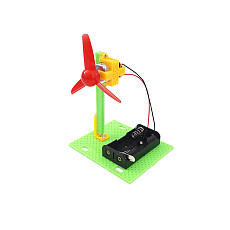 FEICHAO Children Science Toys Mini Electric Fan 3-Paddle Primary School Students Physical Learning Educational Toys Windmill DIY Kits Model for STEM Children Gift