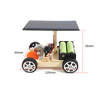 FEICHAO DIY Solar Car Hybrid Electric Vehicle Wooden Motor Assembly Kit Physical Science Model Toys for STEM Kids Gift Educational Toys Gadget