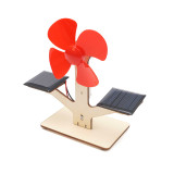 Feichao DIY Solar Powered Wooden Small Windmill Model 3D Puzzle Woodcraft Electric Educational Children Kids Toys for STEM Material Kit