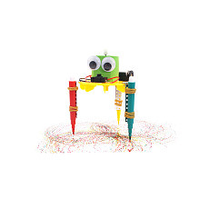 FEICHAO Childen Gift DIY Electric Graffiti Robot Vibration Draw Kids Science Discovery Kit for STEM Physics Experiment F-Educational Toys