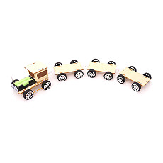 FEICHAO DIY Children Science Toys Scientific Experiment Educational Puzzle Electric Wooden Train Vehicle Vehicle Assembled Model Toys for STEM