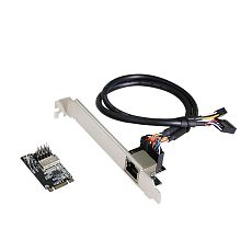 XT-XINTE New M.2 B-Key M-key to RJ45 Ethernet 1000Mbps Adapter / MINI PCIE Gigabit Network Adapter Card with RTL8111H Chip 10/100/1000M