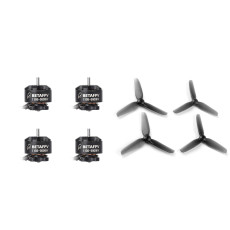 BETAFPV 1105 5000KV 4S Brushless Motors with 2.5 inch 65mm 3-blade Toothpick Propeller Props 1.5mm Shaft Paddle for FPV Racing Drone Quadcopter