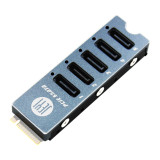 JEYI SATA Disk Array Card JMS585-Slim 5 Ports SATA3 for M. 2 Nvme PCI-E 3.0 to SATA 16G JMB585 Cooler Radiator for ThunderBolt 3