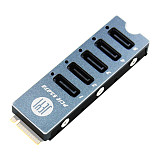 JEYI SATA Disk Array Card JMS585-Slim 5 Ports SATA3 for M. 2 Nvme PCI-E 3.0 to SATA 16G JMB585 Cooler Radiator for ThunderBolt 3