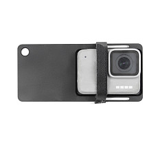 BGNING BJB-G6A Aluminum Alloy Gimbal 4MM Stabilizer Plate Splint Tripod Connection for GOPRO8 Gopro /DJI Osmo / EKEN and other Sports Camera