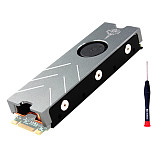 JEYI Cooling Warship Xiaolong Pro M.2 SSD Cooler for NVME NGFF PWM Fan Alu Sheet Thermal Conductivity Silicon Heatsink Radiator