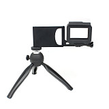 BGNing Aluminum Gimbal Splint Adapter Plate with Mini Tripod Mount for GOPRO8 GOPRO MAX DJI MOZA Action Camera Selfie Device