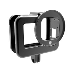 BGNing Aluminum Case Protective Frame Housing Shell with 52mm Lens Filter Mount for Go Pro Hero 8 Action Camera