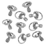 BGNING 10pcs Universal Aluminum alloy Metal Camera Quick Release Plate D-Ring Screw Thread 1/4 Screw For DSLR Camera