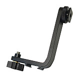 BGNING Monitor L-shaped Bracket Adjustable Inclined Expansion Microphone Bracket for Micro Single Camera 5.5 inch