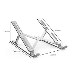 XT-XINTE Aluminum Alloy Laptop Stand Adjustable Folding Non-slip for MacBook Pro Air iPad Pro DELL HP Notebook Tablet PC Bracket HolderFoldable Desktop Notebook Tablet Holders