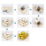 FEICHAO Graffiti Hand Drawing Wooden Hand Crank Music Box DIY Assembled Kits Child Educational Toys Gift for Stem Inventions Puzzle modelsHome Decoration