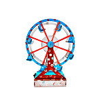 FEICHAO DIY Science Project Electrical Kit Kit Ferris Wheel Wooden Graffiti Building Model Educational Toys Children Gift for 3D STEM Puzzle
