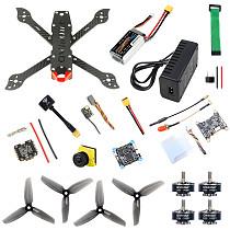 QWinOut three225 Carbon Fiber frame F4 Betaflight FC 1200TVL ND filter Camera 2306-2400kv Motors Dshot600 Firmware ESC Battery&Charge DIY Drone Kit