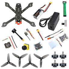 QWinOut three225 Carbon Fiber frame F4 Betaflight FC 1200TVL ND filter Camera 2306-2400kv Motors Dshot600 Firmware ESC Battery&Charge DIY Drone Kit