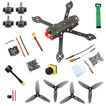 QWinOut three225 Carbon Fiber Airframe F4 Betaflight 5V 8V 1200TVL 2.1mm+ND filter Camera 2306-2400kv 3-4S Motors 35A 2-6S Dshot600 Firmware ESC 5144 Propellers DIY Drone Kit