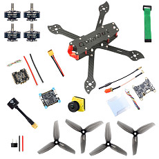QWinOut three225 Carbon Fiber Airframe F4 Betaflight 5V 8V 1200TVL 2.1mm+ND filter Camera 2306-2400kv 3-4S Motors 35A 2-6S Dshot600 Firmware ESC 5144 Propellers DIY Drone Kit