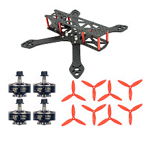 JMT T220 220mm Carbon Fiber Frame Kit with 2306-2400kv 3-4S Brushless Motors 5043 5 inch Propellers For FPV Racing Drone Quadcopter