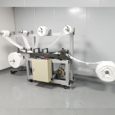 XT-XINTE High Production N95 Mask Slicing Machine Equipment with Built-in Nose Bridge Lower Equipment Failure Rate