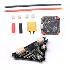 JMT GHF411AIO F4 Flight Controller AIO Betaflight OSD 2-4S BLHELI_S 20A / 30A ESC with Whoop_VTX 5.8g 40ch 25mw~200mw switchable VTX for 3-5'' Mini FPV Racing Drone Quadcopter