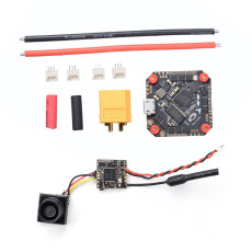 JMT GHF411AIO F4 Flight Controller 30A ESC + Caddx.us Firefly 1/3 CMOS 1200TVL 2.1mm Lens 16:9 NTSC FPV Camera with VTX for Toothpick Larva X HD DIY FPV Racing Drone Quadcopter