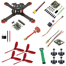JMT J205 Quadcopter FPV DIY Drone Kit , with 4 in1/Split ESC / 3S Battery w/ FRSKY / Flysky Receiver