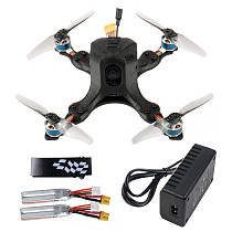 JMT OctopusX1 127mm FPV Racing Drone BNF with Carbon Fiber Frame MiniF4 Flight Controller 20A 4 in 1 ESC 450mAh Battery Frsky Version