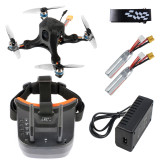 JMT OctopusX1 127mm FPV Racing Drone BNF with MiniF4 Flight Controller 20A 4 in 1 ESC 450mAh Battery LST-009 FPV Goggles Frsky Version