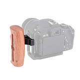 FEICHAO DSLR Wood Wooden Left Hand Handle Grip Camera Photography Accessories for SLR Camera Rabbit Cage