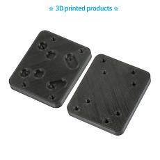 JMT 2pcs Landing Skid Conversion Fixing Plate For Saker675 DIY Drone Frame Kit 3D Printing PLA Black