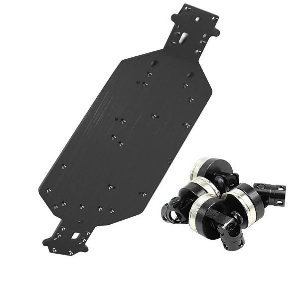 Feichao HSP 04001 Metal Aluminum Chassis Upgrade Parts with Magnetic Mount Shell Column For 1/10 RC Car Buggy XSTR Monster Truck