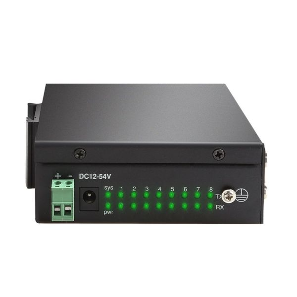 DIEWU 8 ports RS232 RS485 RS422 to Ethernet TCP/IP Converter Multiple Serial Device Server Switch Modbus Gateway