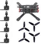 JMT FS135 135mm Carbon Fiber Frame Kit with 1306 3100KV CW / CCW Brushless Motor 3052 3-blade Propeller for DIY RC Drone FPV Quadcopter