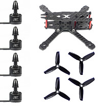 JMT FS135 135mm Carbon Fiber Frame Kit with 1306 3100KV CW / CCW Brushless Motor 3052 3-blade Propeller for DIY RC Drone FPV Quadcopter