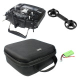 RADIOMASTER TX16S Hall Sensor Gimbals 2.4G 16CH Multi-protocol RF System OpenTX Radio Transmitter with Handbag and Rocker Mount 2000MAH Battery for RC Drone Helicopter Toys