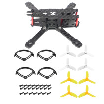 JMT FS135 135mm Wheelbase Carbon Fiber Frame Kit with 2.8 Inch Propeller Guard 2840 Prop for DIY RC Drone FPV Quadcopter