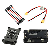 JMT APM 2.8 Multicopter Flight Controller Built-in Compass with Power Module Shock Absorber Extension Cable for DIY RC Drone Aircraft