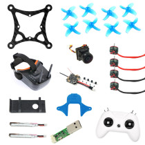 JMT DIY 85MM FPV Racing Drone Quadcopter Kit Standard Version with Crazybee F4 Lite Turbo Eos2 Camera LST-009 FPV Goggles LiteRadio 2 Frsky Remote Controller