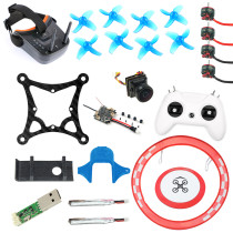 JMT Full Set DIY 85mm FPV Racing Drone Kit with Crazybee F4 Lite Flight Controller Frsky RX SE0802 Motor LST-009 FPV Googles LiteRadio 2 Radio Transmitter Arch Parking Apron