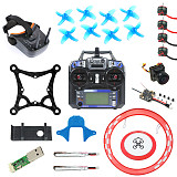 JMT Full Set DIY 85mm FPV Racing Drone Kit with Crazybee F4 Lite Flight Controller Flysky RX SE0802 Motor LST-009 FPV Googles FS I6 Radio Transmitter Arch Parking Apron