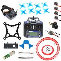 JMT Full Set DIY 85mm FPV Racing Drone Kit with Crazybee F4 Lite Flight Controller Flysky RX SE0802 Motor LST-009 FPV Googles FS I6 Radio Transmitter Arch Parking Apron