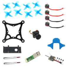 JMT 85MM DIY RC Drone BNF Kit with Crazybee F4 Lite Frsky RX SE0802 16000kv Motors 450MAH 1S Battery Mini Indoor FPV Racing Drone Quadcopter Kit Parts