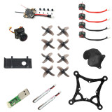 JMT 85MM DIY RC Drone BNF Kit with Crazybee F4 Lite Flysky RX SE0802 16000kv Motors 450MAH 1S Battery Mini Indoor FPV Racing Drone Quadcopter Kit Parts