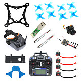 JMT DIY 85MM FPV Racing Drone Quadcopter Kit Full Set Standard Version with Crazybee F4 Lite Turbo Eos2 Camera LST-009 FPV Goggles FS I6 Remote Controller