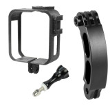 FEICHAO 3D Printed PLA Camera Protective Frame with Extension Arm Helmet Bracket Bend Bar for Gopro MAX Camera