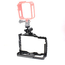 BGNING BTL-FT3 Aluminum Alloy Rabbit Cage Camera Protection Frame Tripod Expansion Platform Handheld Cold Shoe Mount Fill Light Base Camera Accessories  for Fuji XT2 / XT3 Camera Universal Anti-loose Connection Arm Adjustable Direction Wrench Screw