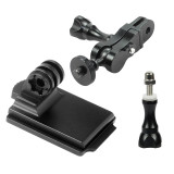 FEICHAO Helmet Accessories Cuttlefish Dried Helmet Mount Magic Hand 1/4 Screw Adapter for GOPRO 8 / GOPRO MAX / GOPRO Full Seriers / GitUp and Other Sports Cameras