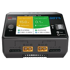 HOTA D6 650W 15A Dual-channel Smart Charger with Wireless Charging for LiHv/LiPo/LiFe/Lilon/Lixx 1~6S Batteries