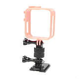 FEICHAO Dried Cuttlefish Helmet Mount (Improved Version) 360 Degree Rotating Connection Block Mount Holder for GOPRO8 GOPRO MAX GOPRO Full Series/DJI/GitUp and other Sports Camera Helmet Accessories